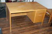 Old solid wood desk