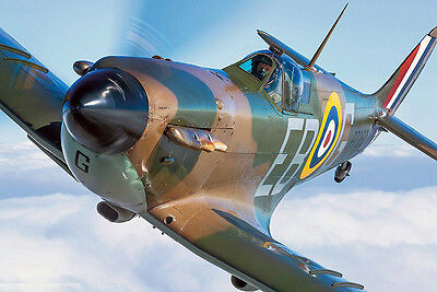 "Model Airplane Plans (UC): Spitfire 1¼""=1' Scale 46"" Stunt for .35-60 (Musciano)"