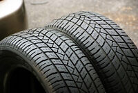 Set of two 195/60/15 Goodyear Eagle tires.70% tread left