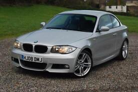 BMW 1 SERIES 123D M SPORT, COUPE, MANUAL, DIESEL, + HEATED LEATHER, FR PSENSORS