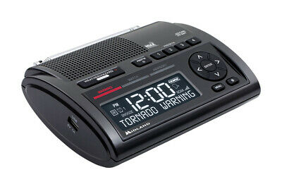 Midland  Deluxe  Black  Alarm Clock With Weather Alert  Digital