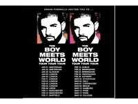 2 x Floor Standing Drake Tickets | Leeds Direct Arena | 2 x Wednesday 8th Feb & 2 xThur 9th Feb 2017