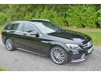Mercedes-Benz C220 2.1CDI 7G-Tronic Plus BlueTEC ESTATE AMG 2014 64 BLACK NAV