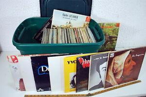 Vinyles chanson française et québécoise etc.