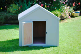 Dog kennels with Pvc sheeting covering