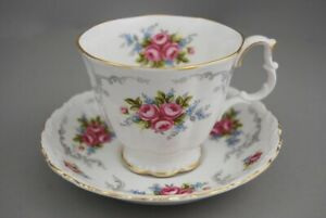 Ornate Royal Albert Tranquillity Demitasse Cup & Saucer
