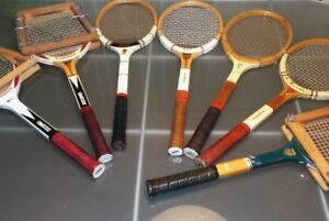 VINTAGE SLAZENGER WOOD TENNIS RACKETS FOR COLLECTORS