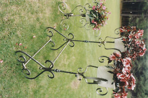 WROUGHT IRON CUSTOM DESIGNED HEAVY ORNATE PIECES
