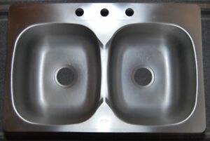 Kindred satin finish double kitchen sink – Lightly used