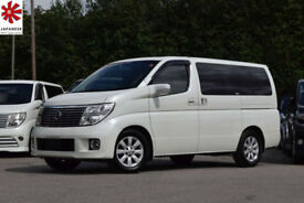 2006 (55) NISSAN ELGRAND XL 3.5 V6 Automatic Pearl White Twin Sunroof Power Door