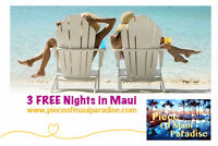 3 FREE NIGHTS in Maui! Piece Of Maui Paradise