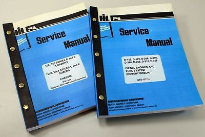 Set Ih Dresser 125 Series E 125e Crawler Loader Service Repair Shop Manuals