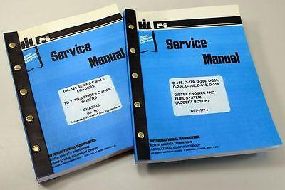 Set Ih Dresser 125 Series C 125c Crawler Loader Service Repair Shop Manuals