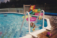 15 ft x 30 ft Oval Above Ground Pool.