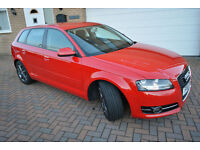 2011 Audi A3 1.6TDI Sport Sportback 5dr Red Manual £20 Tax 65 mpg