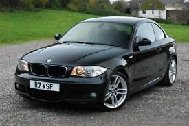 BMW 1 SERIES 125I M SPORT 3.0l COUPE - £4180 EXTRAS, BLACK, AUTO, Petrol, 2008