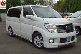 2006 Nissan Elgrand XL 3.5 V6 65K MILES TWIN SUNROOF ELECTRIC CURTAINS CAPTAIN S
