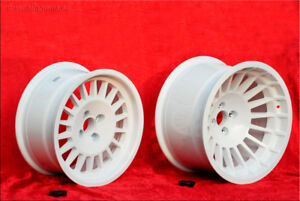 Set of Maxi Turbo Renault R5 7.5x15 / 9.5x16 wheels