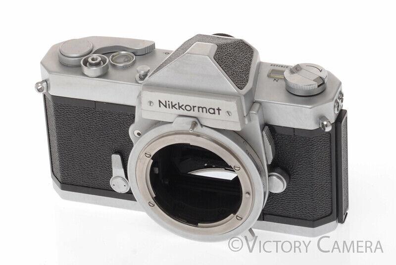 Nikon Nikkormat Chrome FTN Camera -Meter Good, New Seals- (9917-20)