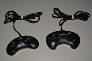Official Sega Genesis Controllers, 6 Button and 3 Button
