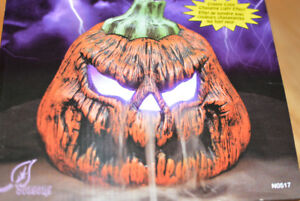 4 New Halloween Pumpkin Fogger / Mister and Pumpkin Leaf Bags.