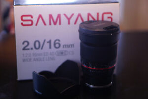 Sumyang 2.0 16mm manual wide angle lens for sony emount
