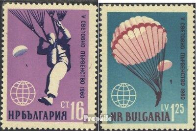Bulgarije 1170-1171 postfris 1960 WM in Parachutespringen