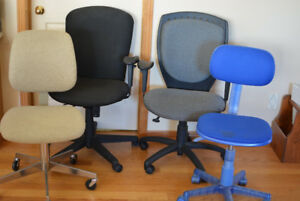 Six Office / Student / Computer Workstation Chairs, and Underlay