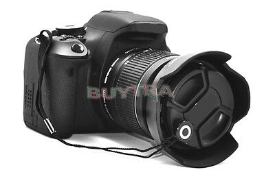 5x Lens Cap Strings Keeper for Nikon Canons Sony Pentax Front Covers 2018 Black