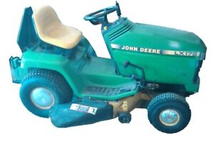 John Deere LX178 Lawn Tractor, Grass Catcher and Snow Thrower