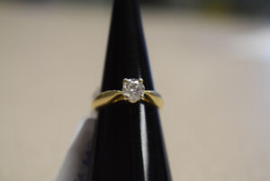 Appraised 14KT Solitaire Engagement Ring, 0.52ct, Size 4 (#714)