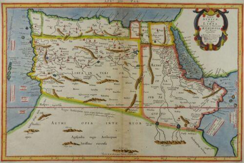NORTH AFRICA MAP MERCATOR PTOLEMY MOROCCO EGYPT Africae in qua Libya Aethiopia