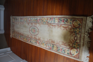Hand woven oriental hall runner.