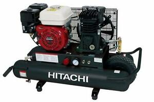 Hitachi 5.5 HP Gas Engine Powered Air Compressor NEW