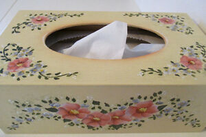 Tole Painted Tissue Box