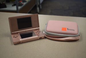Nintendo DS Lite Launch Edition Coral Pink System w/ Extras