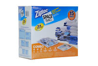 Ziploc 15 bag space saver bags for traveling or storage