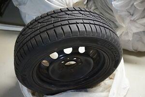 Set of 4 Hankook (I CEPT 205/55R16H) snow tires and rims Oakville / Halton Region Toronto (GTA) image 1