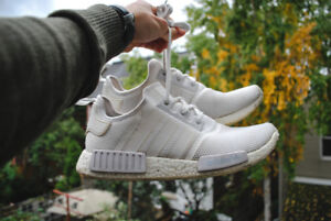 Adidas NMD R1 Triple White Sz. 10 - Lightly Used