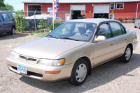 1996 Toyota Corolla DX  1200.00 with safety and etest