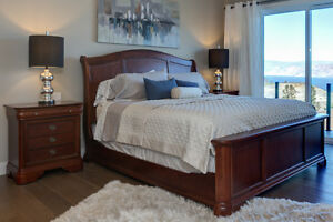 King Sleigh Bed & Dressers For Sale