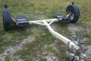 TOW DOLLY-STEERABLE-NEW RIMS/TIRES/WHEEL STRAPS/CUSTOM RATCHETS