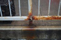 Rusted railing restoration at a fraction of the cost of new