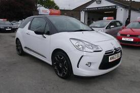 2013 63 Citroen DS3 1.6e-HDi Airdream DStyle Plus in WHITE DIESEL