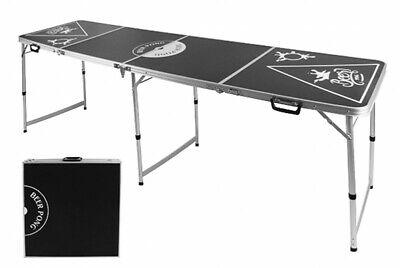 PROFI Aluminium Bierpong-Tisch Beer Bier Pong Table Party Spiel höhenverstellbar