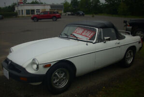 Reduced!  For Sale 1977 MGB Convertible