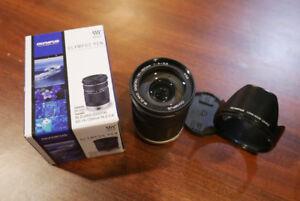 M. Zuiko Olympus 14-150mm f4.0-5.6 Lens Ver 1 with hood