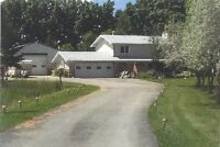 Large acreage minutes from town...