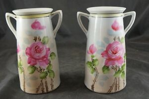 Pair of NIPPON Hand Painted Matching Vases $20.00 for Pair