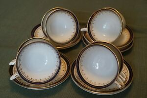 Aynsley Durham Blue cups and saucers
